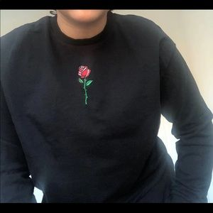 rose embroidery long sleeve